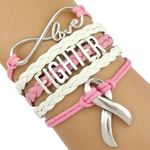 Breast Cancer Awareness Bracelet - Show Your Support Breast Cancer Awareness Jewelry