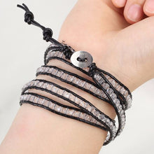 Black on Clear Crystal Wrap Bracelet - Florence Scovel - 3