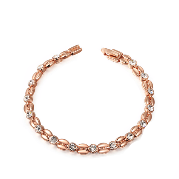 Wheat-Shaped Rose Gold Bracelet - Florence Scovel