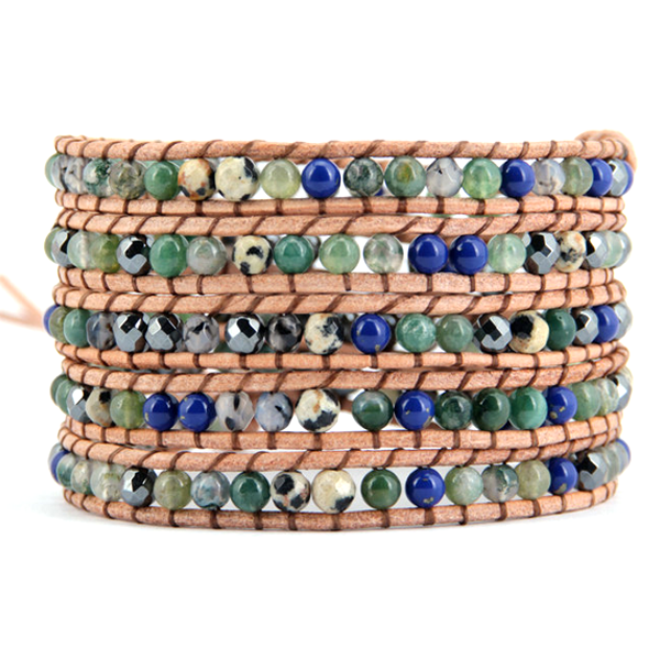 Long Beach Stone Wrap Bracelet - Florence Scovel