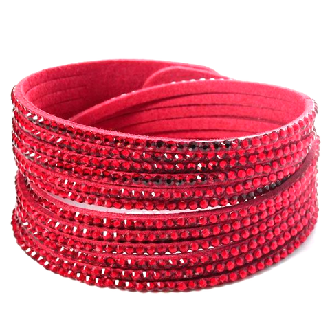 Red Beads Wrap Bracelet - Florence Scovel