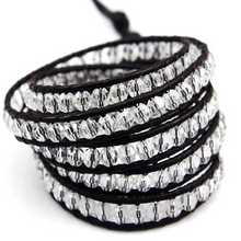 Black on Clear Crystal Wrap Bracelet - Florence Scovel - 1