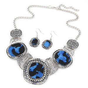 Rhinestone Statement Necklace Set - Florence Scovel - 4