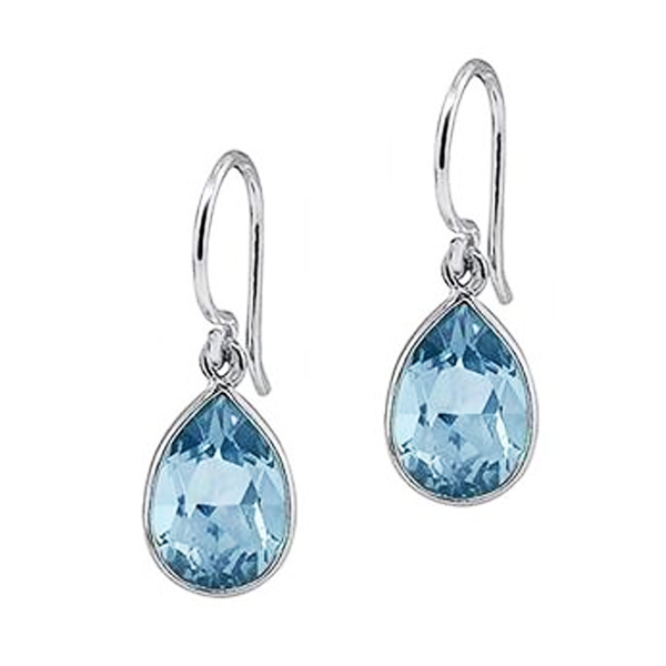 Topaz Drop Earrings in Sterling Silver