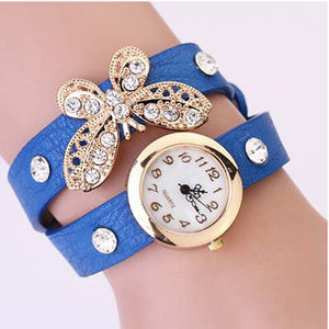 Butterfly Diamond Leather Watch - Florence Scovel - 3