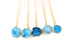 Blue Druzy Stone Necklace - Florence Scovel - 2
