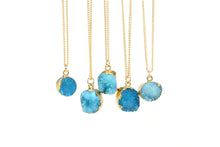 Blue Druzy Stone Necklace - Florence Scovel - 3