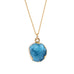 Blue Druzy Stone Necklace - Florence Scovel - 4
