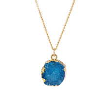 Blue Druzy Stone Necklace - Florence Scovel - 6