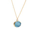 Blue Druzy Stone Necklace - Florence Scovel - 7