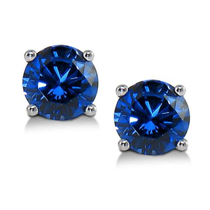Lab-Grown Blue Sapphire Stud Earrings