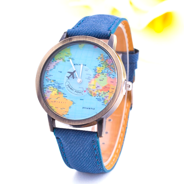 Denim World Map Watch - Florence Scovel - 1