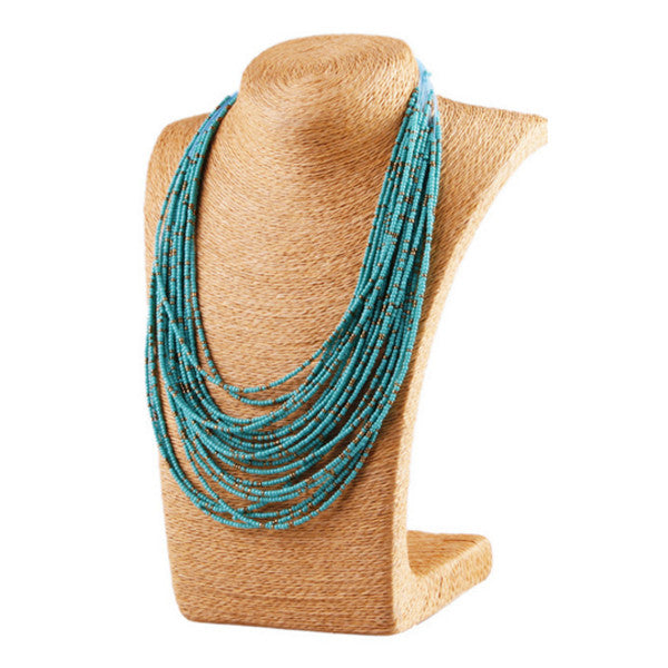 Turquoise Bohemian Bead Necklace - Florence Scovel
