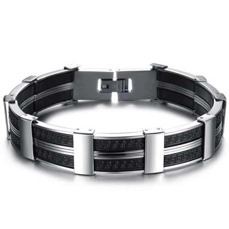 Dark Maze Stainless Steel Men's Bracelet - Florence Scovel - 1