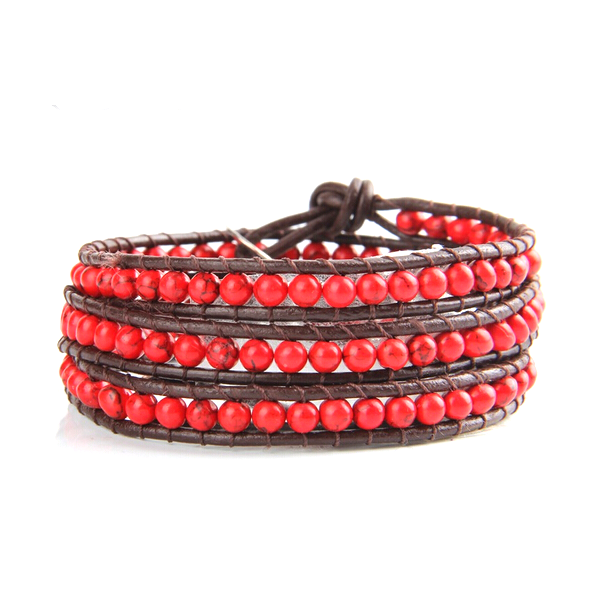 Bold Red  Wrap Bracelet - Florence Scovel