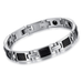 Silver on Black Stainless Steel Men's Bracelet - Florence Scovel - 2