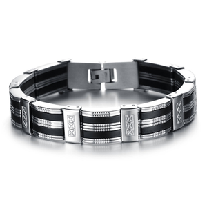 Chain Cuff Stainless Steel Men's Bracelet - Florence Scovel