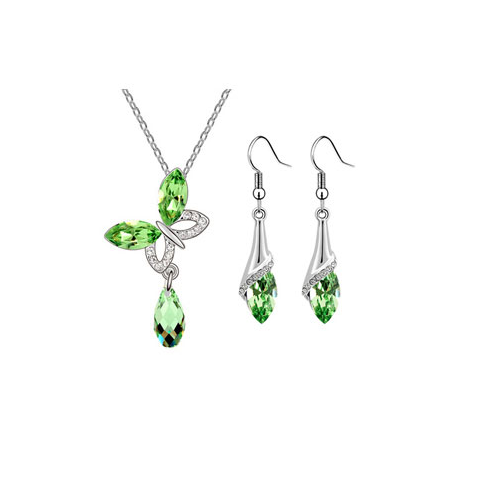 Butterfly Raindrop Pendant Set - Florence Scovel - 2