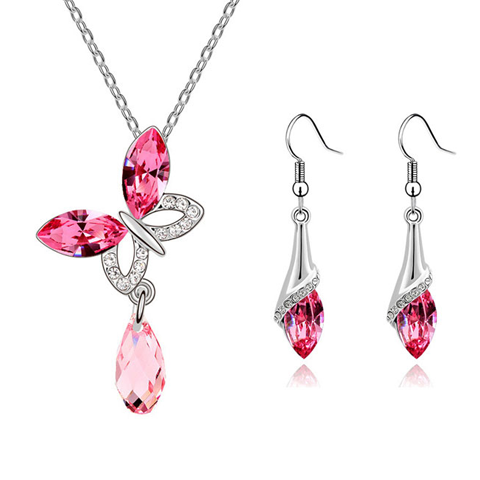 Butterfly Raindrop Pendant Set - Florence Scovel - 5