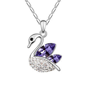 Swan Silver Plated Pendant - Florence Scovel - 1