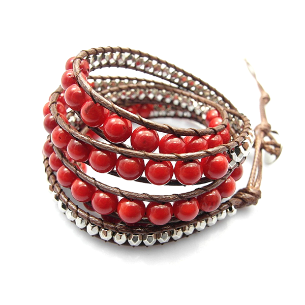 Red Desert Hex Wrap Bracelet - Florence Scovel - 1