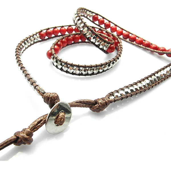 Red Desert Hex Wrap Bracelet - Florence Scovel - 4