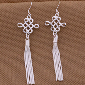 Classic Silver Tassel Earrings - Florence Scovel - 3