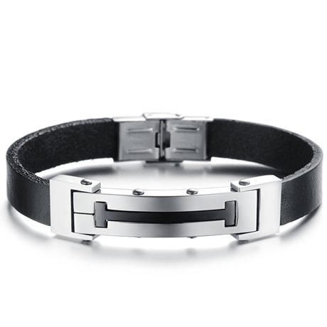 Cross T Men's Stainless Steel Bracelet - Florence Scovel - 1
