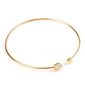 Crystal Heart Bangle - Florence Scovel - 2