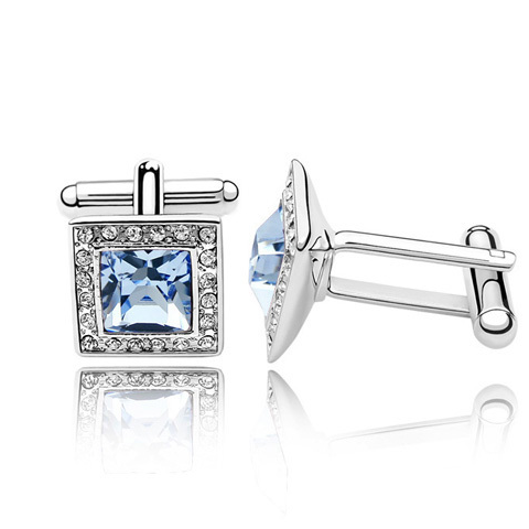 Delicate Crystal Rubic Cufflink - Florence Scovel