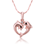 Two Dolphin Heart Pendant - Florence Scovel