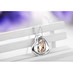 Double Heart Gold-Silver Overlay Pendant - Florence Scovel - 2