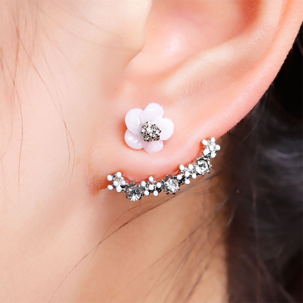 Flower Crystal Stud Earrings - Florence Scovel - 1
