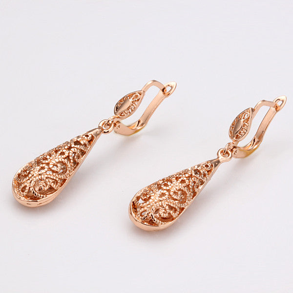 209ae0643 ... Rose Gold Plated Water Drop Earrings - Florence Scovel - 3 ...