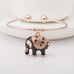 Elegant Rose Gold Elephant Charm Bangle - Florence Scovel - 3