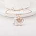 Elegant Rose Gold Elephant Charm Bangle - Florence Scovel - 5