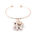 Elegant Rose Gold Elephant Charm Bangle - Florence Scovel - 6