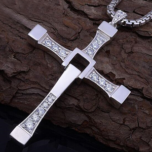 Cross Crystal Necklace