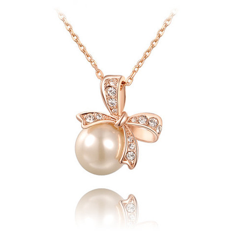 Bow Pearl Necklace - Florence Scovel - 1