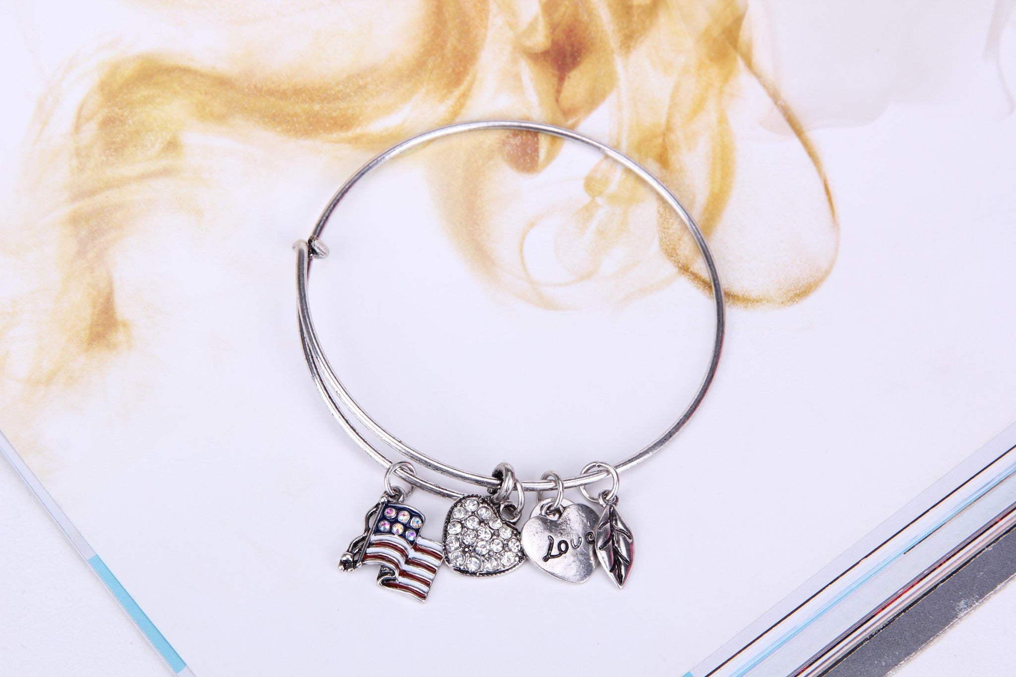 Flag Love Charm Bangle - Florence Scovel - 4