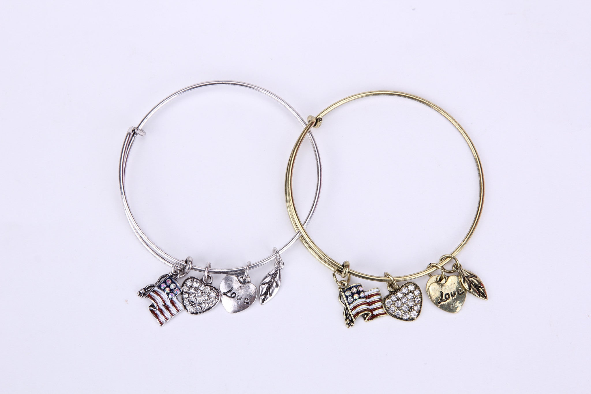 Flag Love Charm Bangle - Florence Scovel - 3