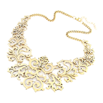 Gold Statement Necklace - Florence Scovel - 1