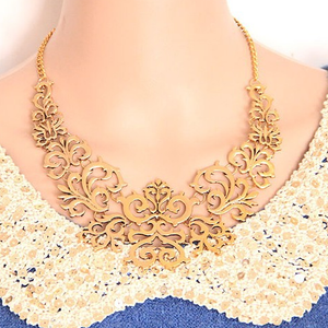 Gold Statement Necklace - Florence Scovel - 2
