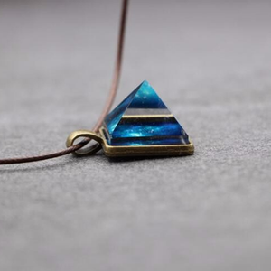 Crystal Pyramid Glowing Pendant