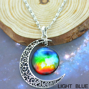 Starry Galaxy & Moon Necklace - Florence Scovel - 7
