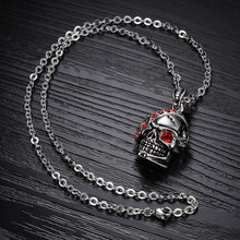 Bloody Stainless Steel and Cubic Zirconia Skull Pendant - Florence Scovel - 2