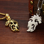 Gold Plated Stainless Steel Vintage Dragon - Florence Scovel - 10
