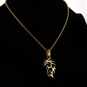 Gold Plated Stainless Steel Vintage Dragon - Florence Scovel - 14