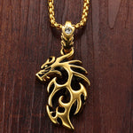 Gold Plated Stainless Steel Vintage Dragon - Florence Scovel - 5