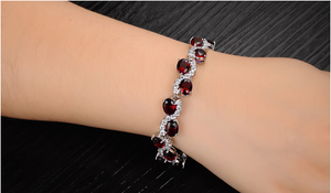 Red Garnet Exquisite Bracelet - Florence Scovel - 4